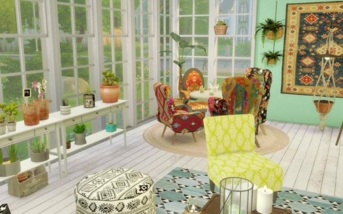 Bohème Chic house by Bloup at Sims Artists image 1998 670x419 Sims 4 Updates