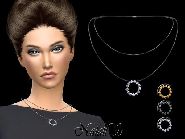 Crystal hoop pendant by NataliS at TSR image 2 Sims 4 Updates