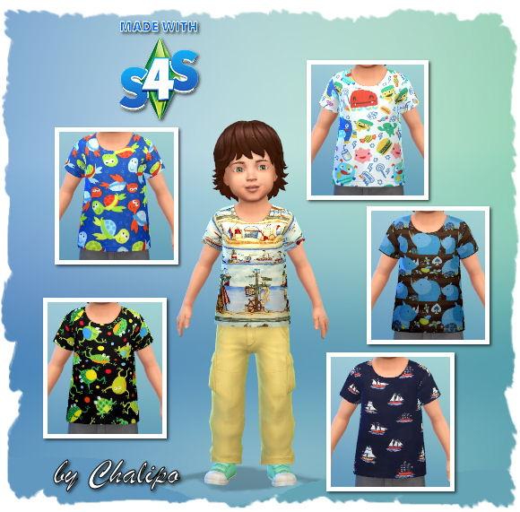 Sims 4 Toddler Shirts by Chalipo at All 4 Sims