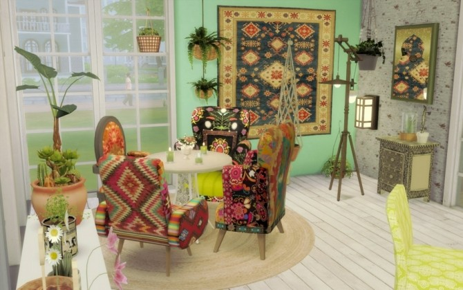 Bohème Chic house by Bloup at Sims Artists image 2007 670x419 Sims 4 Updates