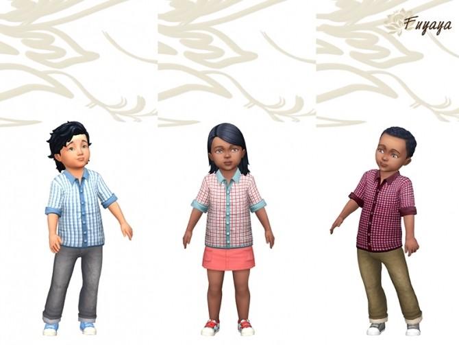 Sims 4 Rolly shirt by Fuyaya at Sims Artists