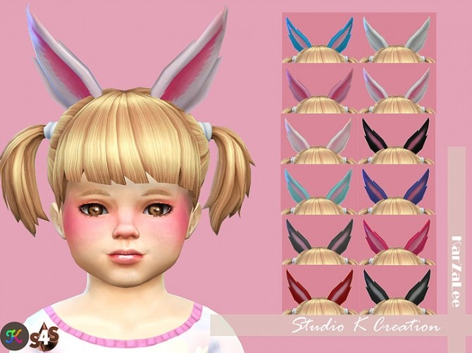 Sims 4 Rabbit ears for toddler at Studio K Creation