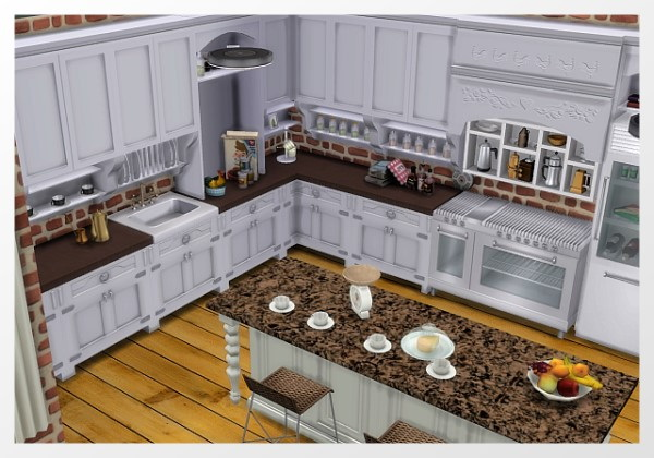 Room Kitchen by Oldbox at All 4 Sims image 2051 Sims 4 Updates
