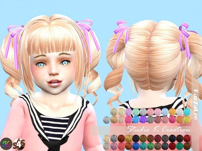 Sims 4 Animate hair 23 momo toddler version at Studio K Creation