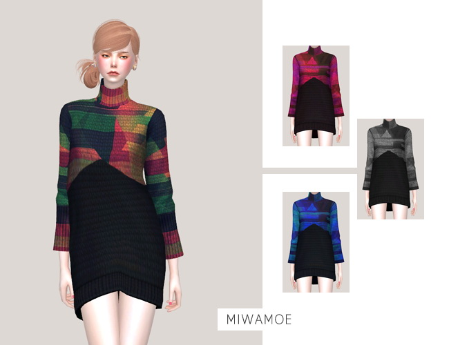 Dress at Miwamoe image 2057 Sims 4 Updates