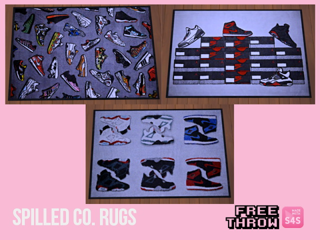 Sims 4 Sneakers rugs at CC freethrow
