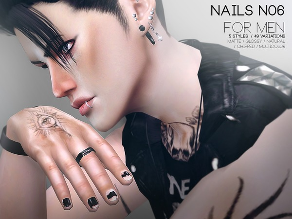Nails For Men N06 by Pralinesims at TSR image 2100 Sims 4 Updates