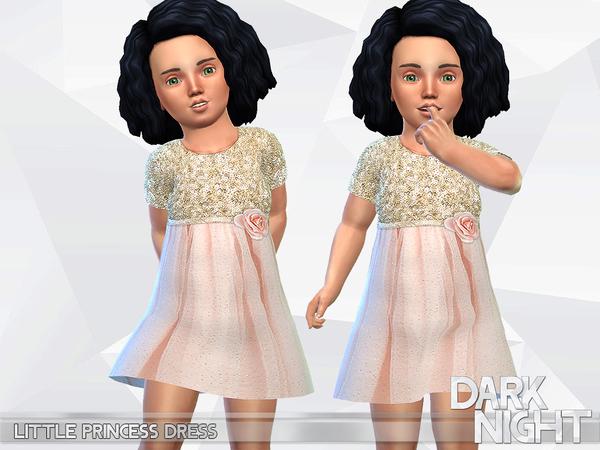 Little Princess Dress by DarkNighTt at TSR image 2107 Sims 4 Updates