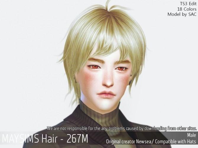 Sims 4 Hair 267M (Newsea) at May Sims