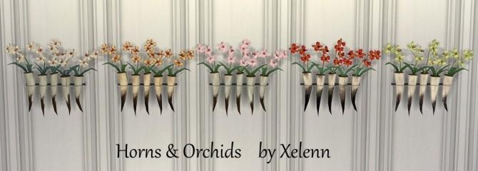 Sims 4 Horns Skulls & Flowers at Xelenn
