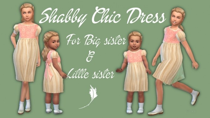 Sims 4 Shabby Chic dress at Seger Sims