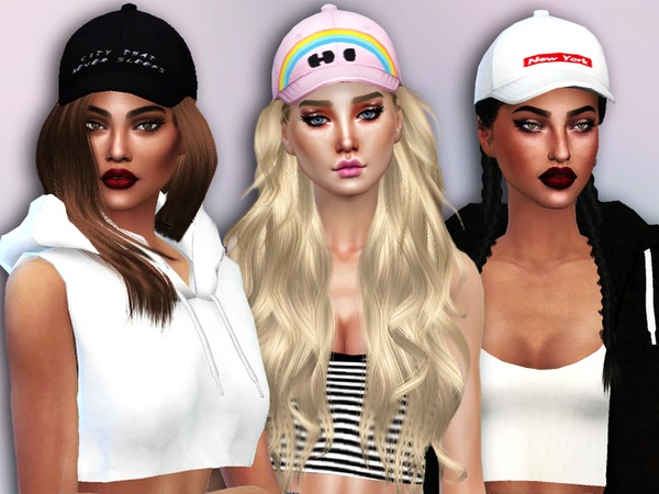 Sims 4 City Babe Caps by Simlark at TSR