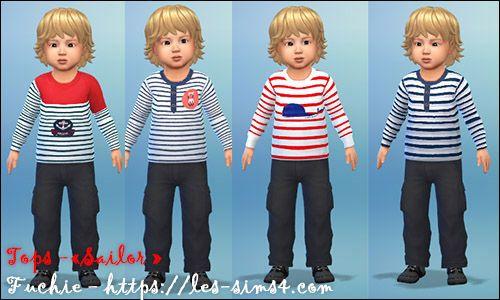 Sims 4 Sailor tops at Les Sims4