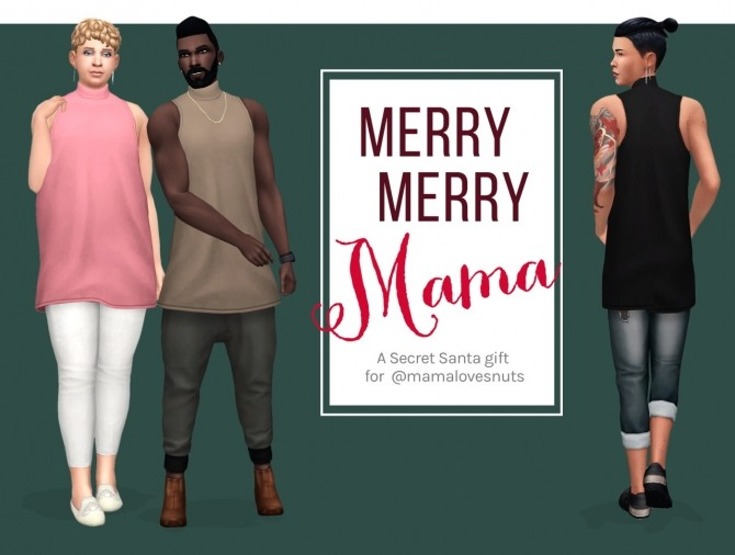 Sims 4 Merry Merry Mama set at Femmeonamissionsims