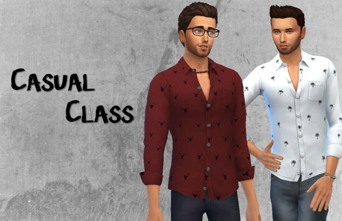 Casual class shirt at Choco Sims image 2181 670x434 Sims 4 Updates