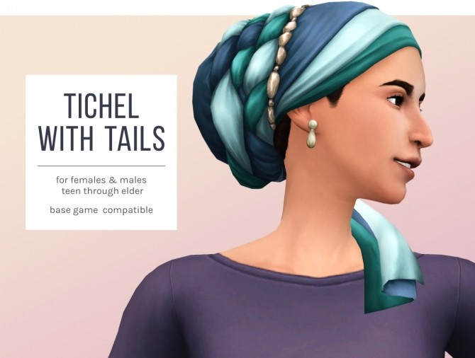 Sims 4 Tichel with Tails at Femmeonamissionsims