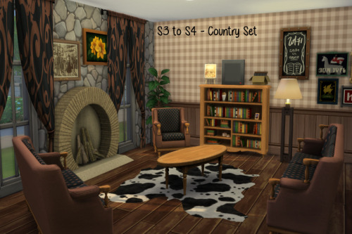 Sims 4 S3 to S4 Country Living Set at ChiLLis Sims