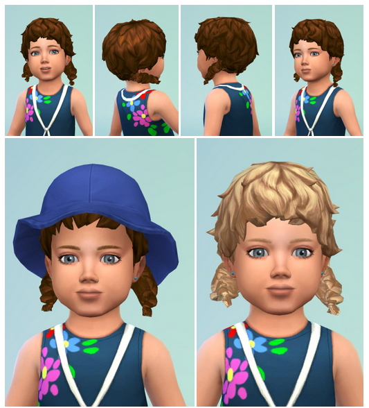 Sims 4 Toddler Curl Pigtails at Birksches Sims Blog