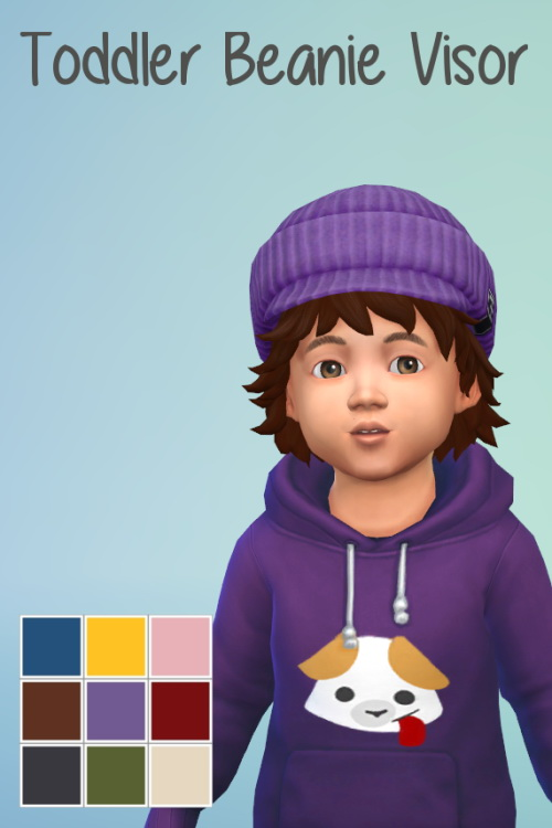 Toddler Beanie Visor at ChiLLis Sims image 2203 Sims 4 Updates