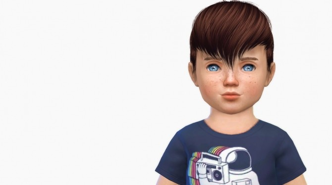 Sims 4 Anto Scream Hair Toddler Version at Simiracle
