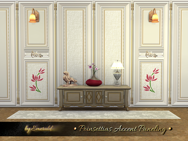 Poinsettias Accent Paneling by emerald at TSR image 2212 Sims 4 Updates