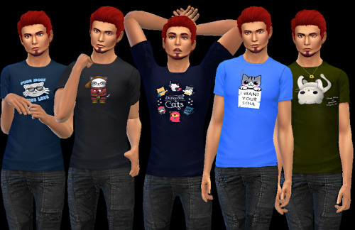 Kitties tees at AuriSims image 2221 Sims 4 Updates