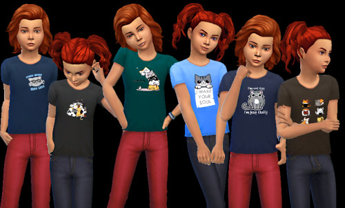 Kitties tees at AuriSims image 2231 Sims 4 Updates