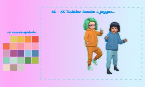 Sims 4 KK Toddler Hoodie & Jogger at ChiLLis Sims