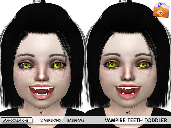 Vampire Teeth Toddlers by MahoCreations at TSR image 2238 Sims 4 Updates