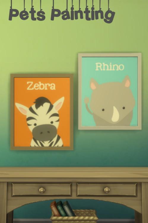 Sims 4 Pets Paintings at ChiLLis Sims