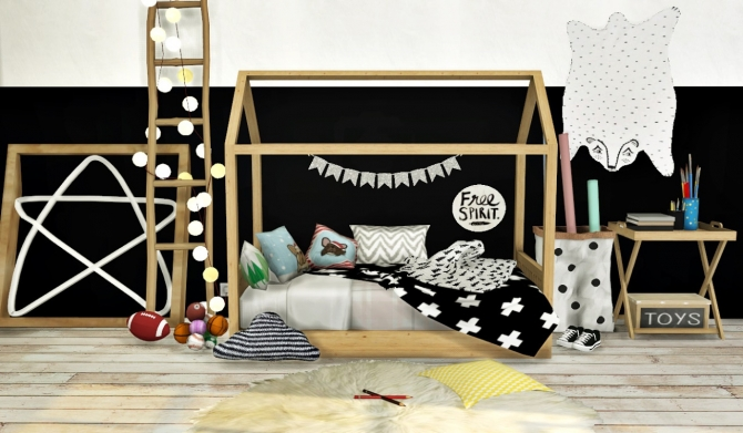 Bambooko Toddlers Bed And Blanket At MXIMS Sims 4 Updates