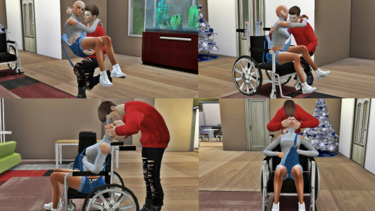 Wheel Chair poses  pack at Simsnema image 2281 Sims 4 Updates