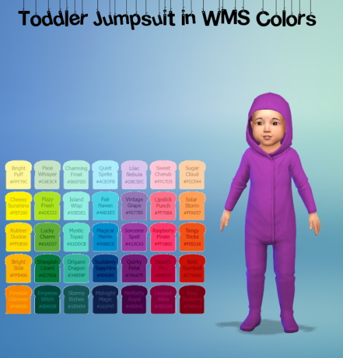Toddler Jumpsuit in WMS Colors at ChiLLis Sims image 2283 Sims 4 Updates