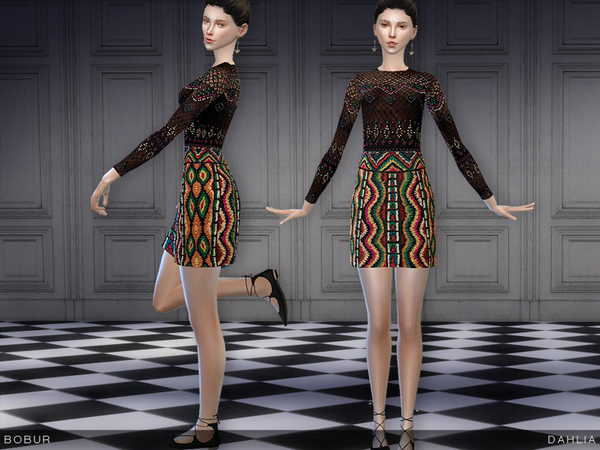 Dahlia dress by Bobur3 at TSR image 23 Sims 4 Updates
