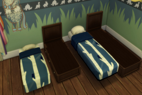 Sims 4 Kids Room Stuff Bed edited & Add On for Toddler at ChiLLis Sims