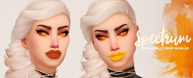 Spectrum the Apollo Collection set with shiny and matte lipsticks at Valhallan image 2306 670x271 Sims 4 Updates