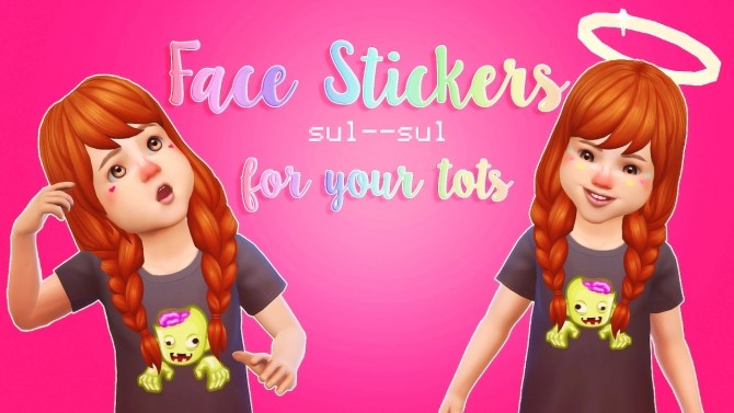Toddler Face Stickers at sul–sul image 23112 670x377 Sims 4 Updates