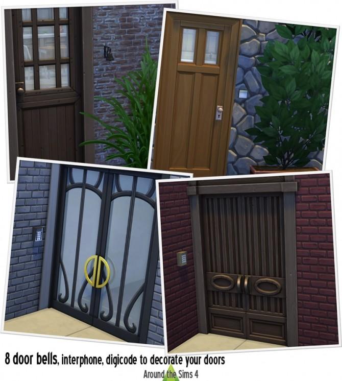 Sims 4 Door Bells & digicode, interphone at Around the Sims 4