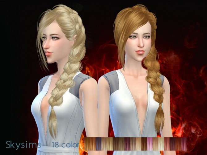 Sims 4 Skysims hair 286 (Free) at Butterfly Sims