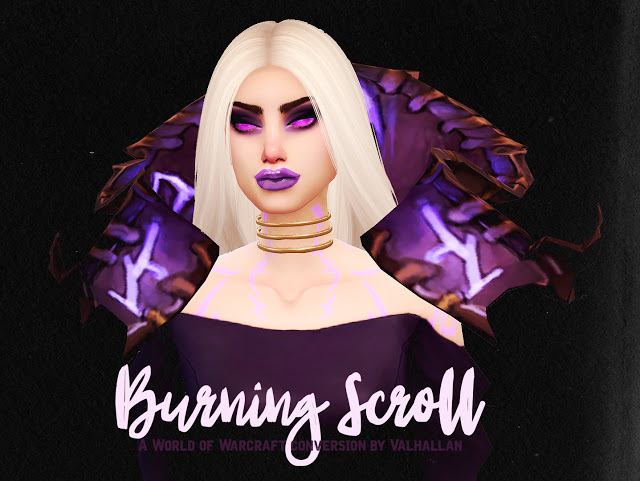 Sims 4 Burning Scroll World of Warcraft conversion at Valhallan