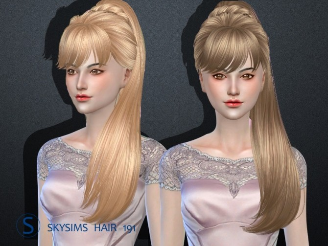 Skysims hair 191 (Pay) at Butterfly Sims image 236 670x503 Sims 4 Updates