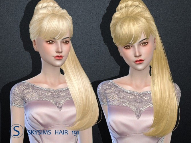 Sims 4 Skysims hair 191 (Pay) at Butterfly Sims