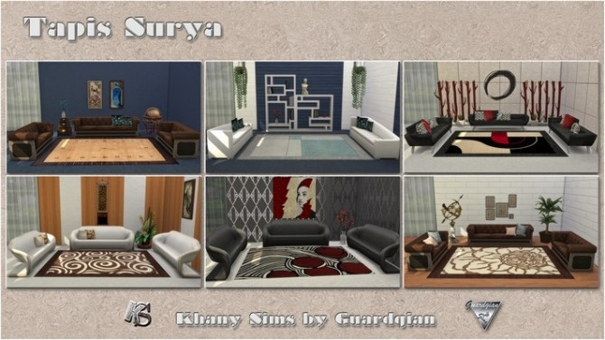 Sims 4 SURYA rugs by Guardgian at Khany Sims