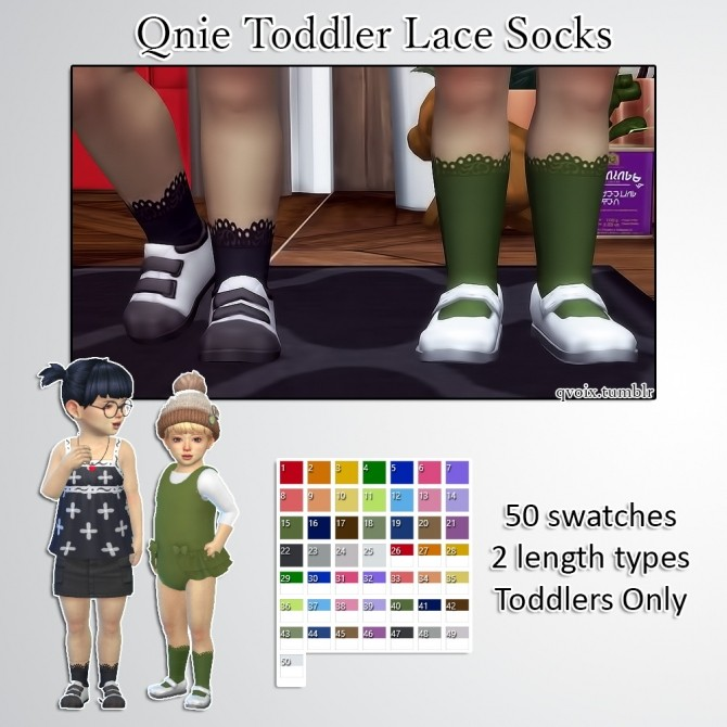 Sims 4 Qnie Toddler Lace Socks at qvoix – escaping reality