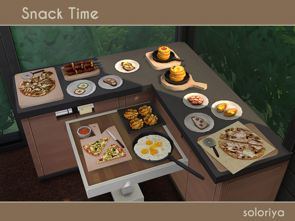 Snack Time clutter by soloriya at TSR image 2415 Sims 4 Updates