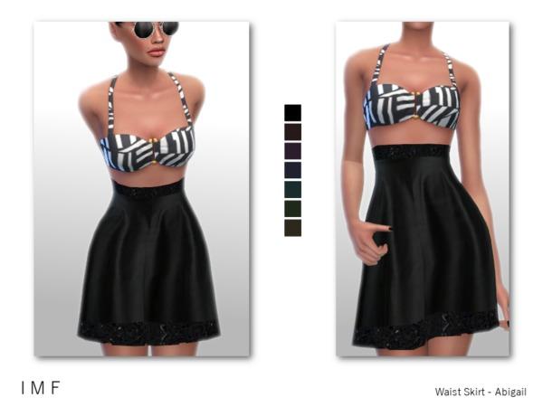 Sims 4 IMF Waist Skirt Abigail by IzzieMcFire at TSR