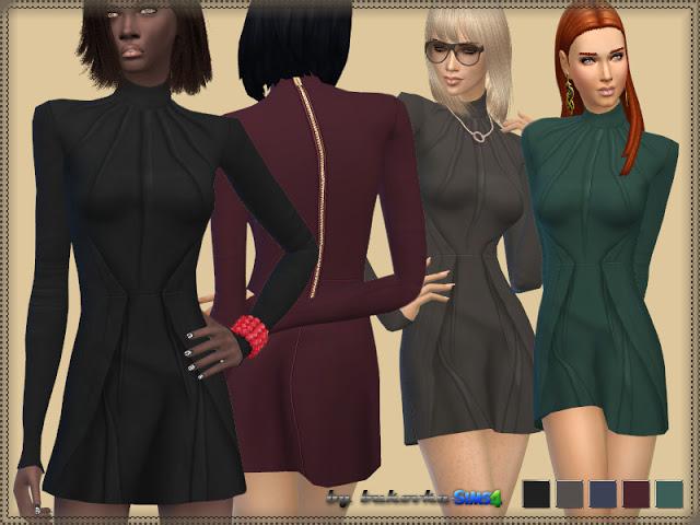 Sims 4 Tuck Dress at Bukovka