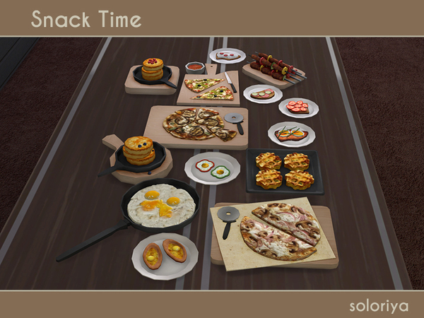 Snack Time clutter by soloriya at TSR image 2515 Sims 4 Updates