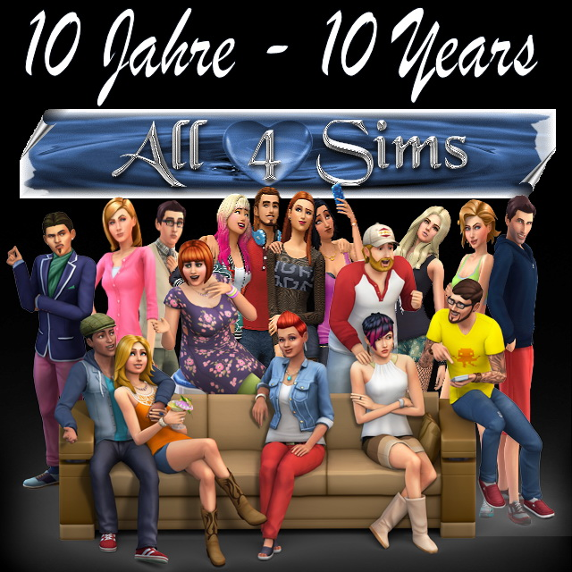 Sims 4 A4S Anniversary Update 10 years at All 4 Sims