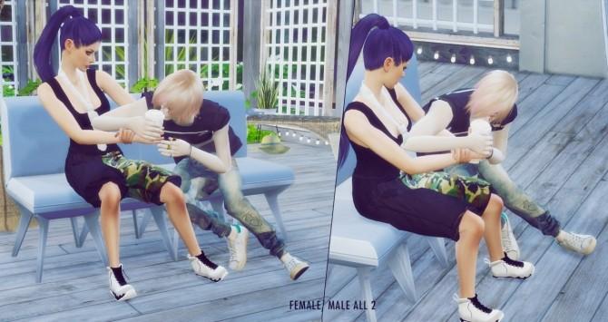 Sims 4 Keep me waiting poses at Cloe Sims